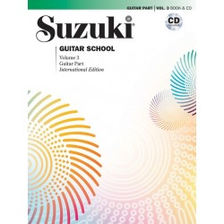 Libro. SUZUKI GUITAR SCHOOL VOLUMEN 3 - BOOK AND CD
