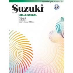 Libro. SUZUKI CELLO SCHOOL - VOLUME 4 BOOK AND CD