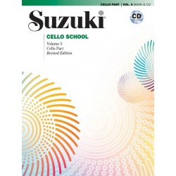 Libro. SUZUKI CELLO SCHOOL - VOLUME 5 BOOK AND CD