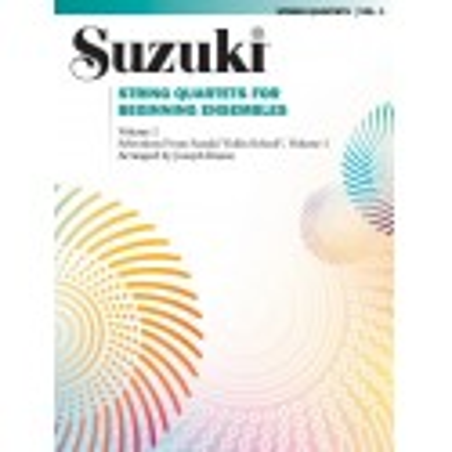 Libro. SUZUKI - STRING QUARTETS FOR BEGINNING ENSEMBLES VOLUME 1