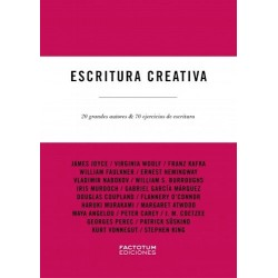 Libro. ESCRITURA CREATIVA - 20 GRANDES AUTORES Y 70 EJERCICIOS DE ESCRITURA