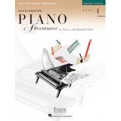 Libro. ACCELERATED PIANO ADVENTURES FOR THE OLDER BEGINNER Theory Book 1
