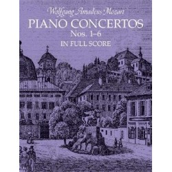 Partitura. Wolfang Amadeus Mozart. PIANO CONCERTOS Nos 1-6 in full score