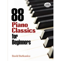 Partitura. 88 PIANO CLASSICS FOR BEGINNERS
