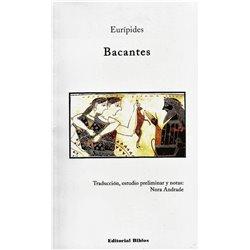 Libro. BACANTES - EURÍPIDES