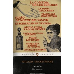 Libro. COMEDIAS - OBRA COMPLETA I - WILLIAM SHAKESPEARE