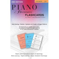 CARTAS. PIANO ADVENTURES FLASHCARDS INA A BOX