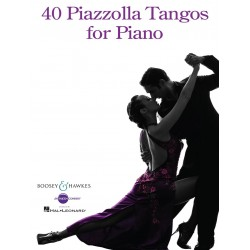 Partitura. 40 PIAZZOLLA TANGOS FOR PIANO