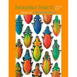 Libro de colorear. Incredible Insects: Designs by Christopher Marley Coloring Book
