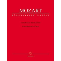 Partituras. MOZART. Variations for Piano
