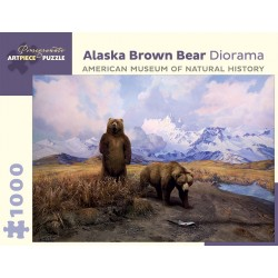 Rompecabezas. ALASKA BROWN BEAR DIORAMA. 1000 piezas