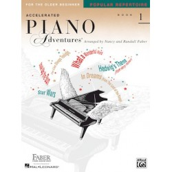 Libro. ACCELERATED PIANO ADVENTURES FOR THE OLDER BEGINNER. Popular Repertoire Book 1