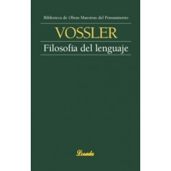 Libro. FILOSOFÍA DEL LENGUAJE - Karl Vossler