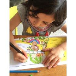 Títere de dedo. CHARA AZUL - Blue Jay