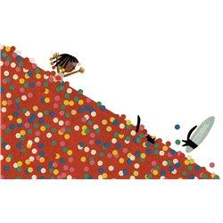 Organizador imantado para escribir y borrar. MAFALDA Color