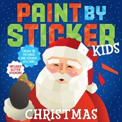 Libro. PAINT BY STICKERS. Kids. CHRISTMAS