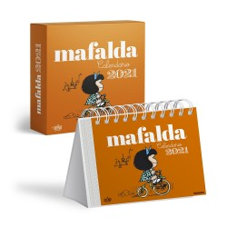 Calendario. MAFALDA Caja Anaranjado. 2021