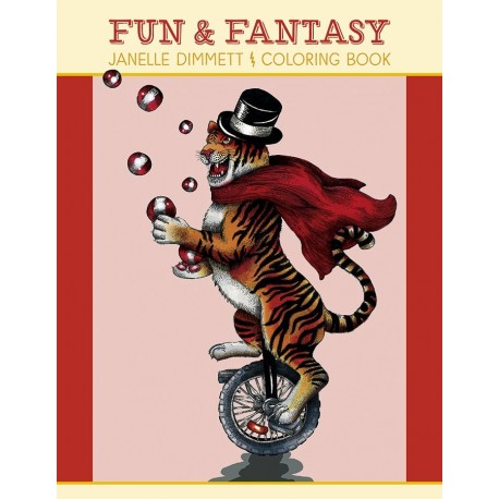 Libro de colorear. Janelle Dimmett: Fun & Fantasy Coloring Book