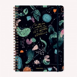Cuaderno Anillado A4 Happimess Universo Rayado