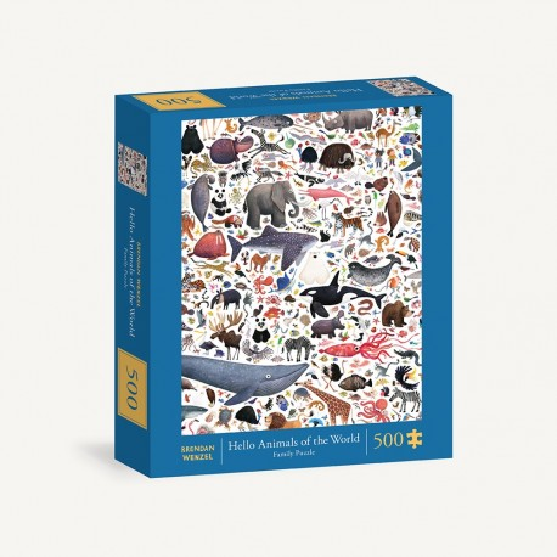 Rompecabezas. Hello Animals of the World 500-Piece Family Puzzle