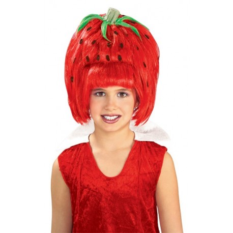 Peluca. Fruity licious Strawberry tart wig