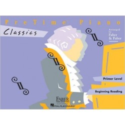 Libro. PRETIME PIANO CLASSICS - PRIMER LEVEL - BEGINING READING