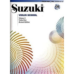 SUZUKI VIOLIN SCHOOL - VOLUME 2 - VIOLIN PART - (BOOK AND CD)