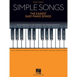 Partitura. SIMPLE SONGS - THE EASIEST EASY PIANO SONGS