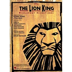 Partirura. THE LION KING - BROADWAY SELECTIONS (EASY PIANO VOCAL SELECTIONS)