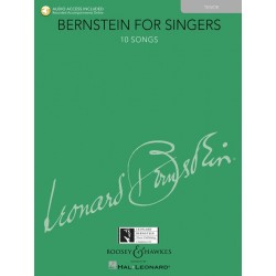 BERNSTEIN FOR SINGERS - TENOR BOOK - ONLINE AUDIO ACCOMPANIMENTS