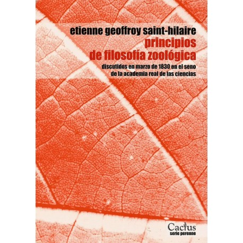 PRINCIPIOS DE FILOSOFIA ZOOLOGICA