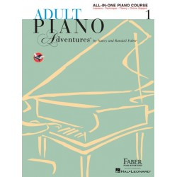 ADULT PIANO - ALL-IN ONE PIANO COURSE 1 (BOOK WITH MEDIA ONLINE)