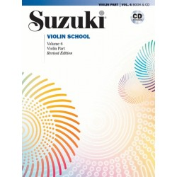 SUZUKI VIOLIN SCHOOL - VOLUME 6 - VIOLIN PART - (BOOK AND CD)