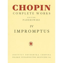 CHOPIN - IMPROMPTUS COMPLETE WORKS VOL. IV