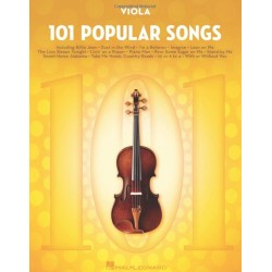 Libro. VIOLA, 101 POPULAR SONGS