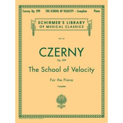 Libro. THE SCHOOL OF VELOCITY OP. 299 - CZERNY