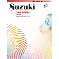 SUZUKI PIANO SCHOOL VOLUME 6 - NEW INTERNATIONAL EDITION (BOOK AND CD)