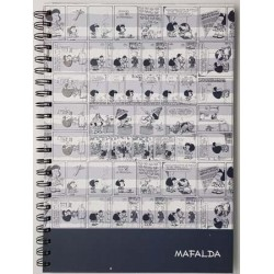 Cuaderno grande. A4 R MAFALDA CLASICA GRIS TAPA DURA