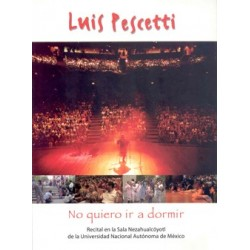 DVD. Luís Pescetti. NO QUIERO IR A DORMIR