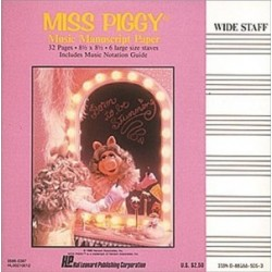 Cuaderno pentagramado. MISS PIGGY