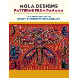 Libro de colorear. MOLA DESIGNS: Patterns from Panamá coloring book