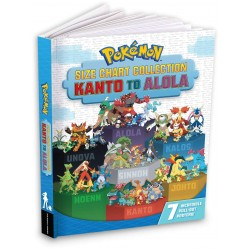 Libro. POKÉMON. Size chart collection. KANTO to ALOLA