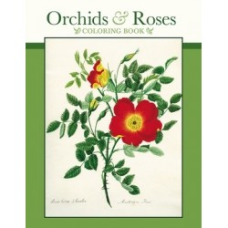 Libro de colorear. ORCHIDS & ROSES - Coloring book